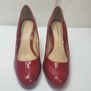 Gianni bini red patent leather landree heels 7m